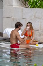 DELILAH HAMLIN in Bikini and Eyal Booker at a Pool in Mexico 11/23/2020
