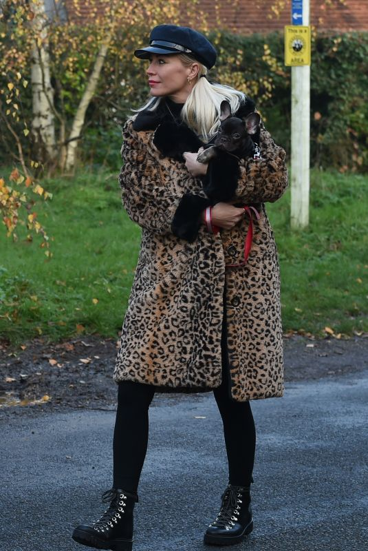 DENISE VAN OUTEN Out with Her Fogs in Essex 11/29/2020