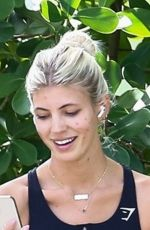 DEVON WINDSOR Out with her Dog in Miami 11/24/2020