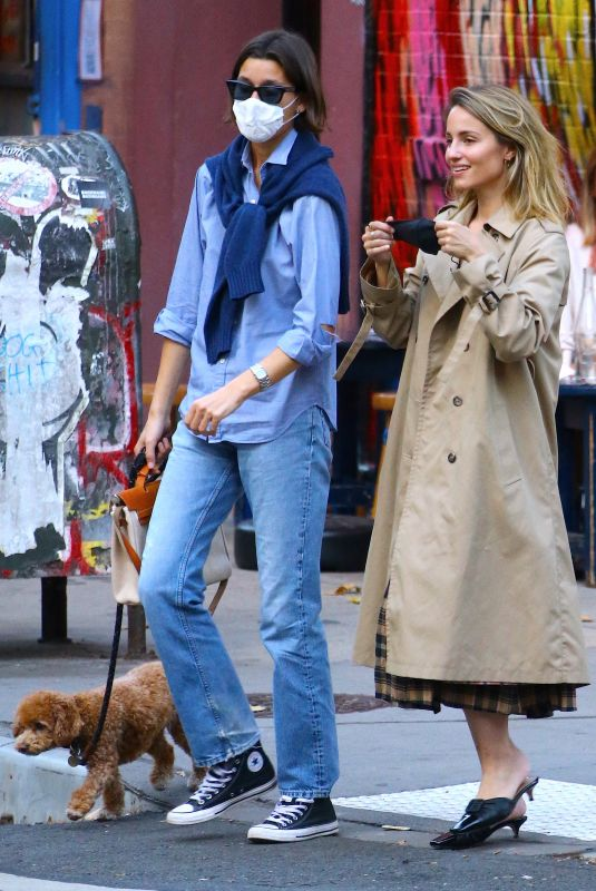 DIANNA AGRON Out with a Friend in New York 11/10/2020