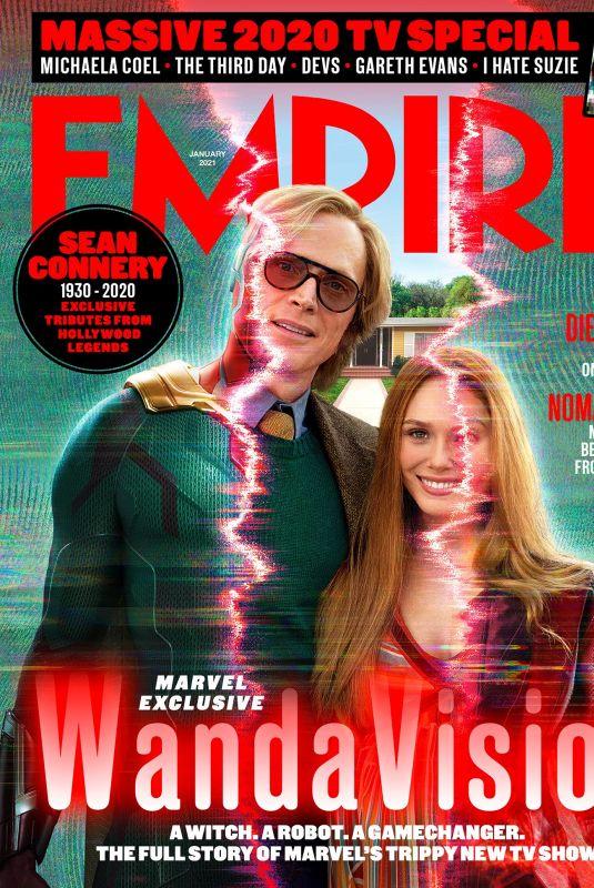 ELIZABETH OLSEN on the Cover of Empire Magazine, January 2021
