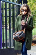 EMILIA CLARKE Out with Her Dog in London 11/01/2020
