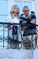 EMILY ALYN LIND and JORDAN ALEXANDER on the Set of Gossip Girl in New York 11/24/2020