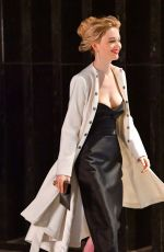 EMILY ALYN LIND, LAURA BENANTI on the Set of Gossip Girl in New York 11/20/2020
