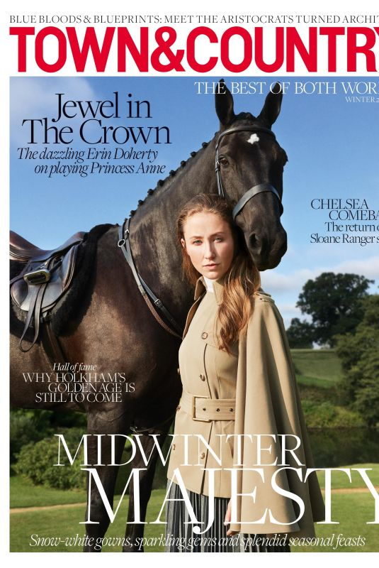 ERIN DOHERTY in Town & Country Magazine, UK Winter 2020