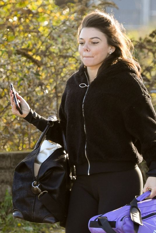FAYE BROOKES Leaves Dancing on Ice Rehersal in Manchester 11/13/2020