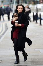 FAYE BROOKES Out with Her Dog in Manchester 11/17/2020