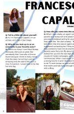 FRANCESCA CAPALDI in Aquamarine Magazine, November 2020