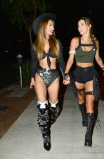 FRANCESCA FARAGO and CASEY BOONSTRA at a Halloween Party in Los Angeles 10/31/2020