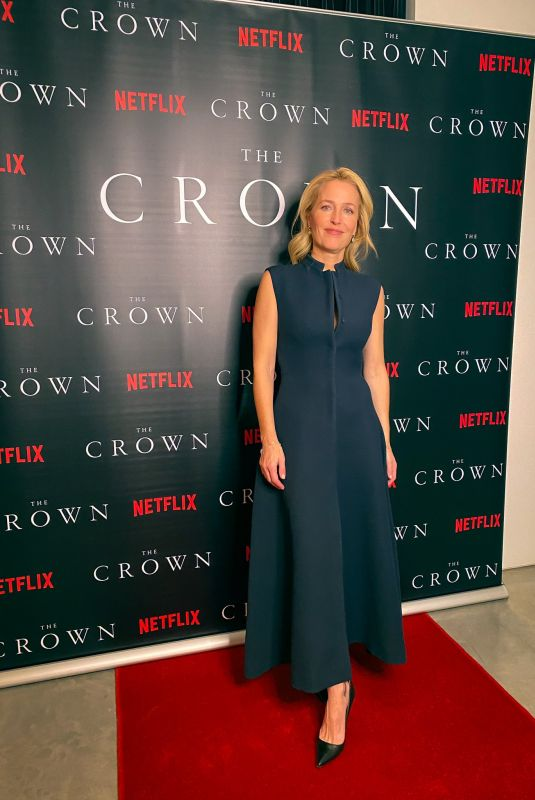 GILLIAN ANDERSON at The Crown, Season 4 Virtual Premiere from His Kitchen 11/12/2020