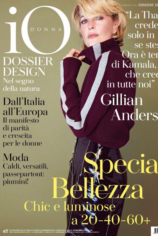 GILLIAN ANDERSON in Io Donna Del Corriere Della Sera, November 2020