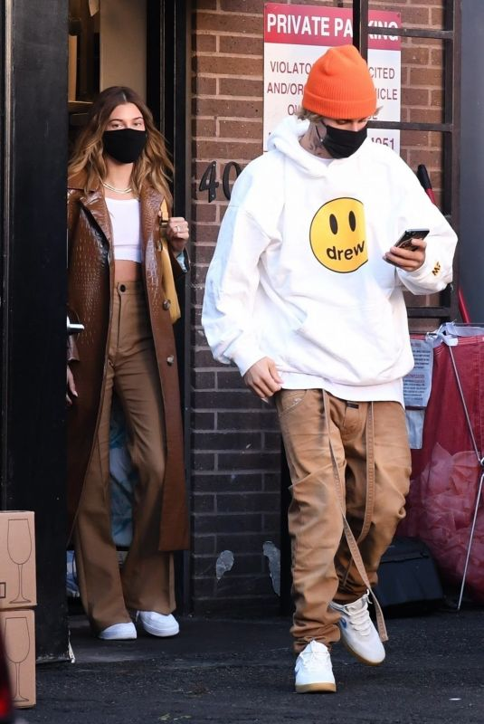 HAILEY and Justin BIEBER Leaves Il Pastaio in Beverly Hills 11/19/2020
