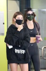 HAILEY BIEBER and KENDALL JENNER Leaves a Gym in Los Angeles 11/06/2020