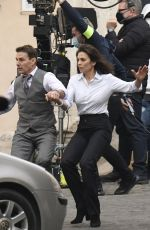 HAYLEY ATWELL and Tom Cruise on the Set of Mission Impossible 7 in Rome 11/24/2020