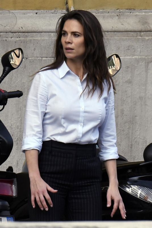 HAYLEY ATWELL on the Set of Mission Impossible 7 in Rome 11/29/2020