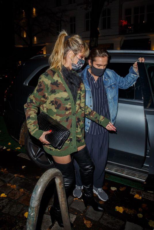HEIDI KLUM and Tom Kaulitz Out for Halloween Night Dinner 10/31/2020