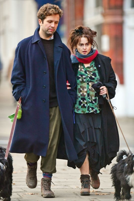 HELENA BONHAM CARTER and Rye Dag Golmboe Out in Primrose Hill 11/08/2020