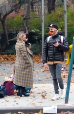 HILARY DUFF Out with Her Family at Bronx Zoo in New York 11/15/2020