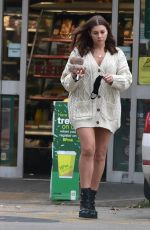 IMOGEN THOMAS at a Gas Station in London 11/24/2020