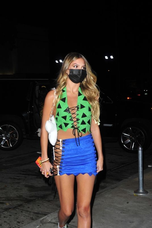 ISABEL JONES Arrives at Halloween Party in West Hollywood 10/31/2020