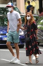 ISLA FISHER and Sacha Baron Cohen Out in Woollahra in Sydney 11/27/2020