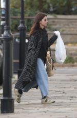 JENNA LOUISE COLEMAN at a Gas Station in London 11/15/2020