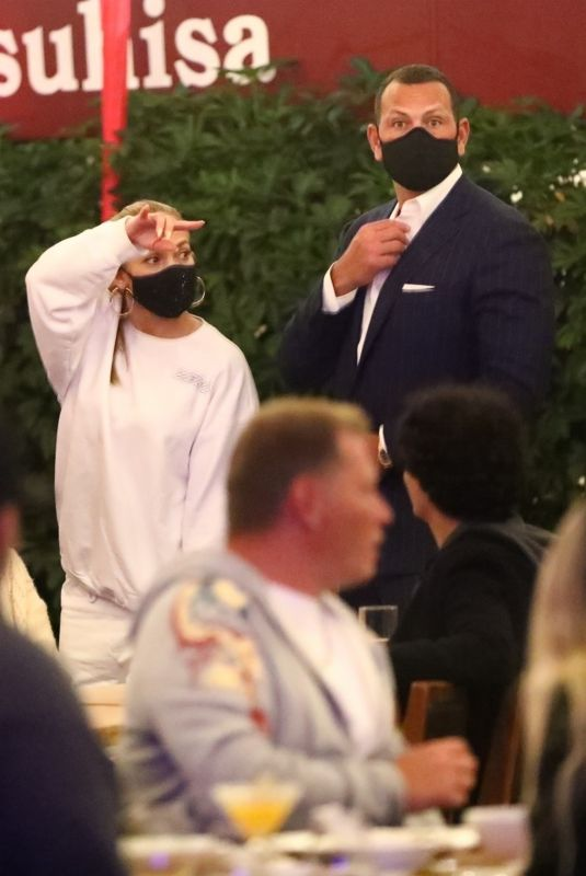 JENNIFER LOPEZ and Alex Rodriguez at Matsuhisa in Beverly Hills 11/19/2020