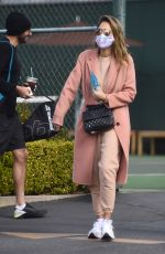 JESSICA ALBA Leaves a Tennis Lesson in Los Angeles 11/08/2020