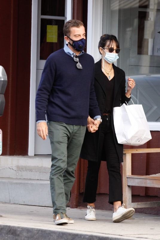 JORDANA BREWSTER and Andrew Form Out for Coffee in Brentwood 11/08/2020