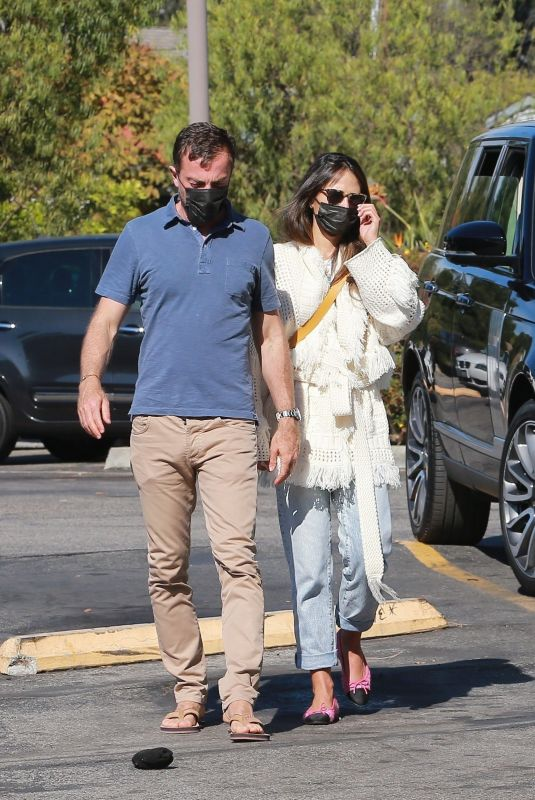 JORDANA BREWSTER and Mason Morfit Shopping at Bristol Farms 11/17/2020
