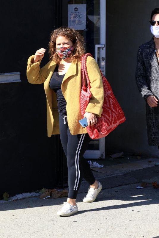 JUSTINA MACHADO Leaves Dance Studio in Los Angeles 11/08/2020