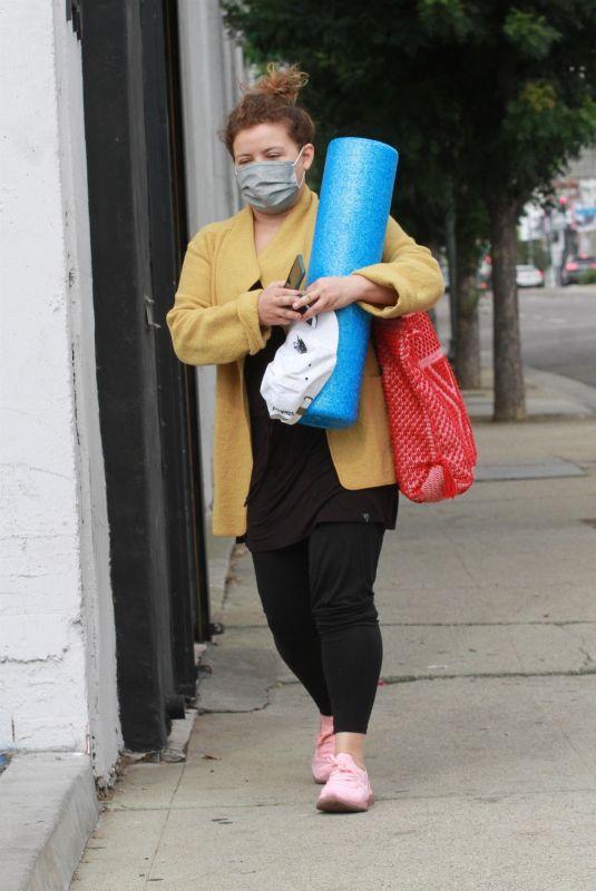 JUSTINA MACHADO Leaves DWTS Studio in Los Angeles 11/05/2020