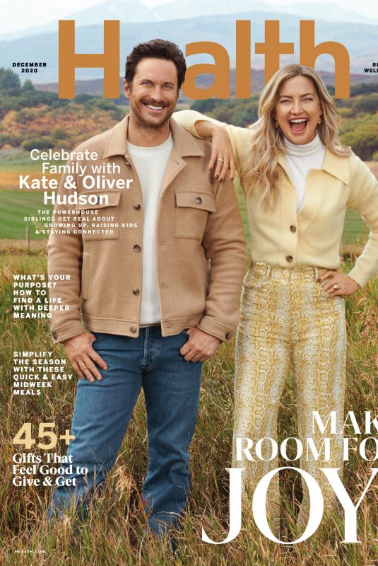 KATE HUDSON in Health Magazine, December 2020
