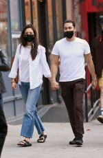 KATIE HOLMES and Emilio Vitolo Jr Out in New York 11/22/2020