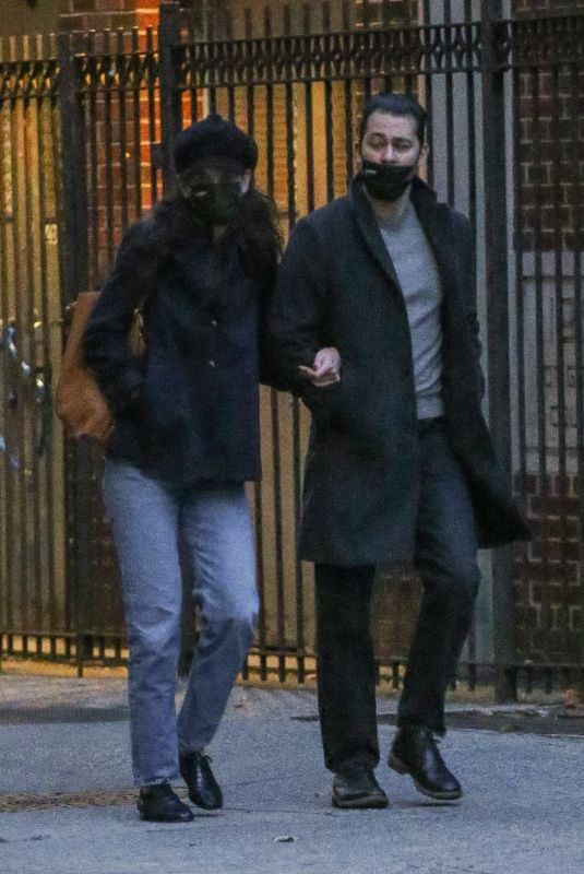 KATIE HOLMES and Emilio Vitolo Jr Out in New York 11/26/2020