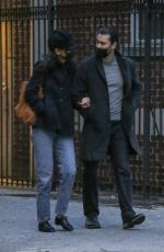 KATIE HOLMES and Emilio Vitolo Jr Out Shopping Flowers in New York 11/25/2020