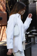 KENDALL JENNER All in White Out in New York 11/20/2020