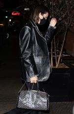 KENDALL JENNER Leaves Givenchy Campaign Shoot in New York 11/21/2020