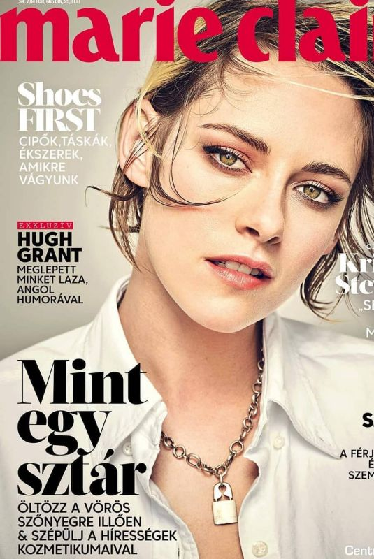 KRISTEN STEWART on the Cover of Marie Claire Magazine, Hungary December 2020