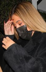 KYLIE JENNER Leaves Giorgio Baldi in Santa Monica 11/13/2020