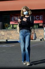 KYRA SEDGWICK in DEnim Shopping at Gelsons in Los Angeles 11/29/2020