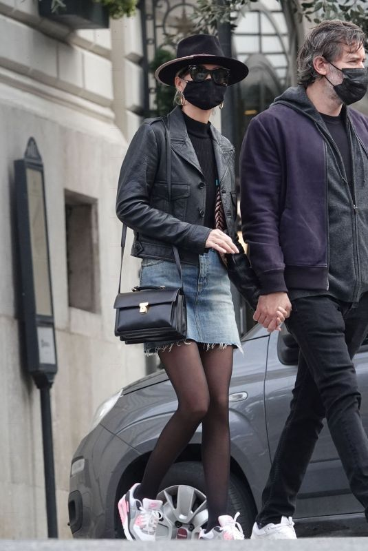 LAETICIA HALLYDAY and Jalil Lespert Out in Rome 11/02/2020