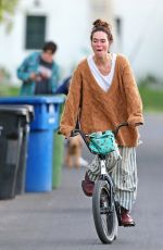 LENA HEADEY Riding a Bike Out in Los Angeles 11/15/2020
