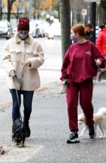 LILI REINHART and MADELAINE PETSCH Out with Their Dogs in Vancouver 11/29/2020