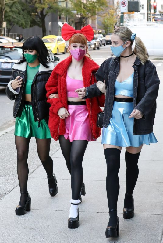 LILI REINHART, CAMILA MENDES and MADELAINE PETSH Heading to Vanessa Morgan's Baby Shower in Vancouver 10/31/2020