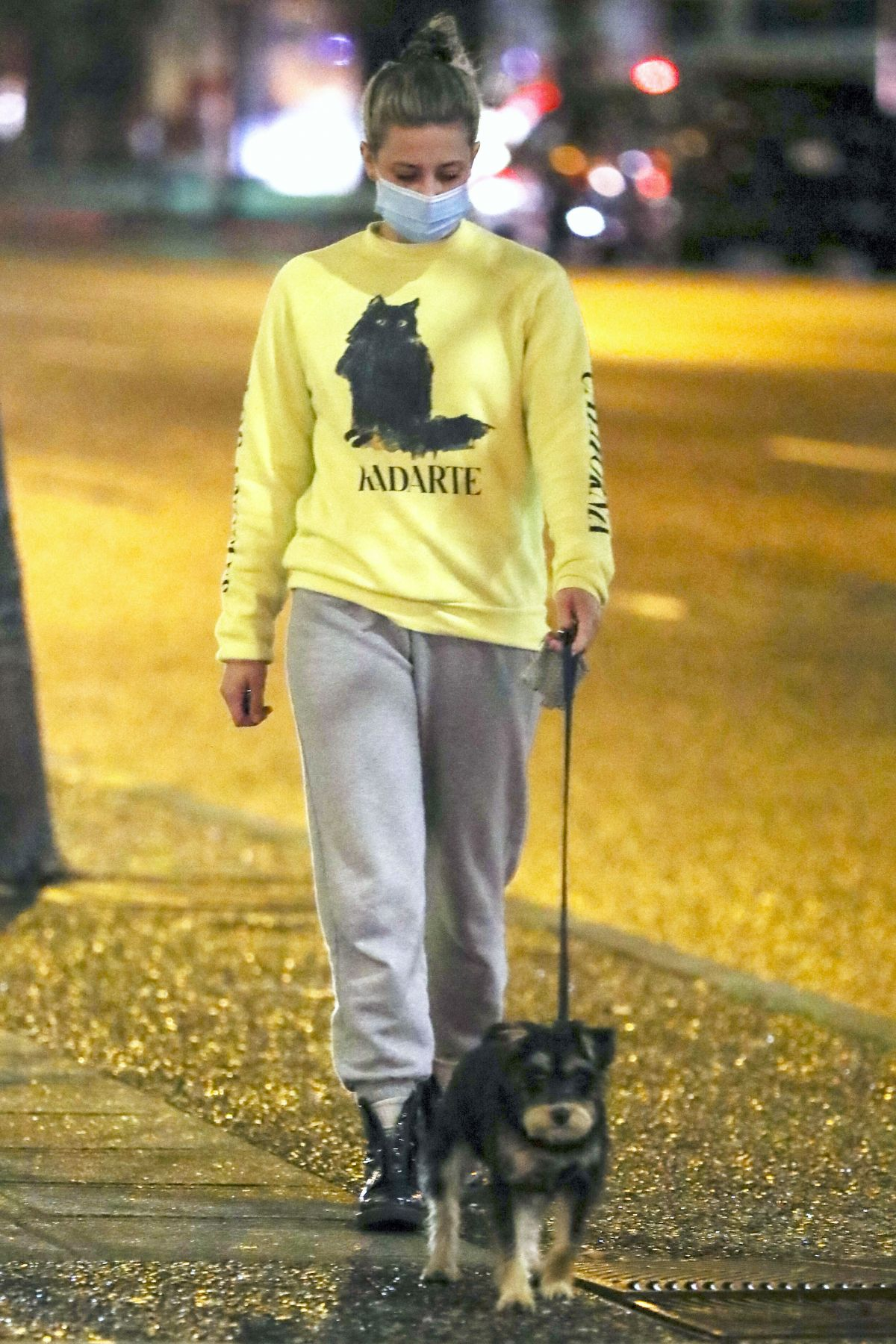 LILI REINHART Out with Her Dog in Vancouver 11/03/2020 ...