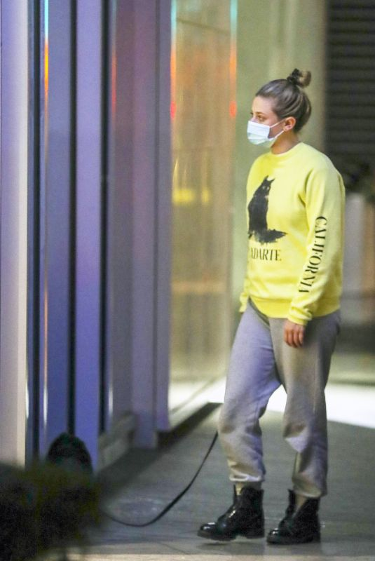 LILI REINHART Out with Her Dog in Vancouver 11/03/2020