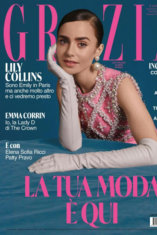 LILY COLLINS in Grazia Magazine, Italy December 2020