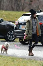 LUCY HALE Out with Her Dog in New York 11/26/2020
