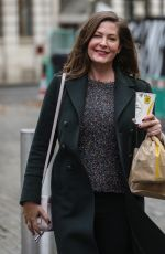 LUCY HOROBIN Arrives at Global Radio in London 11/20/2020
